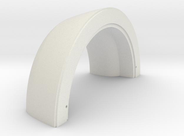 Turbofan Engine Front Intake Cowl  in White Natural Versatile Plastic