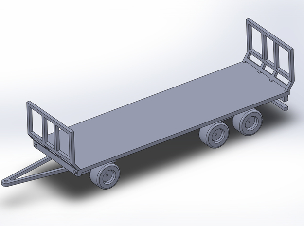 1:160/N-Scale Flat/Hay Trailer  in Smooth Fine Detail Plastic
