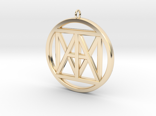 """United """"I AM"""" 3D,  3"""" Bling size in 14K Gold"""