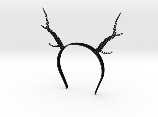 Antlers in Matte Black Steel
