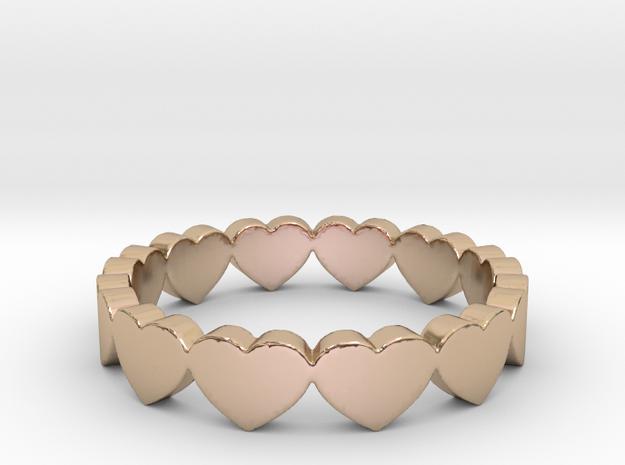Pandora Style Hearts Ring - Size 7