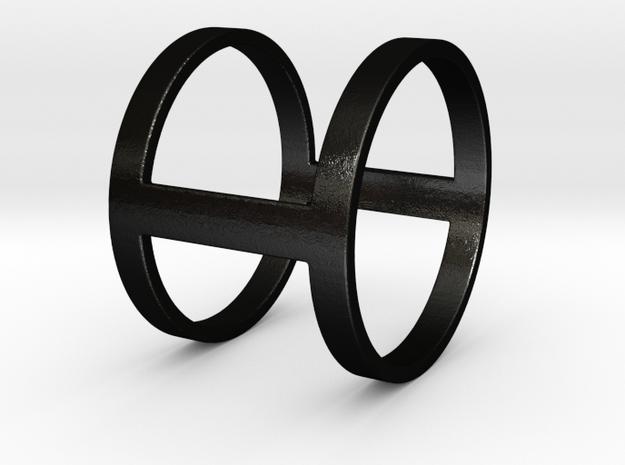 """""""I Line"""" Ring in Matte Black Steel"""