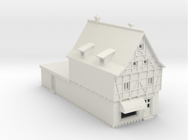Altstadt Supermarkt - 1:220 (Z scale) in White Natural Versatile Plastic