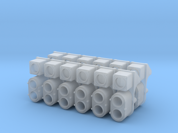 SP Early Cluster, Square UDE (N - 1:160) 12X in Smoothest Fine Detail Plastic