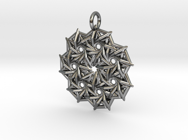 NeckLace10 in Polished Silver