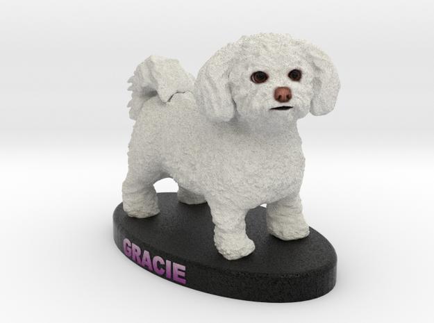 Custom Dog Figurine - Gracie in Full Color Sandstone