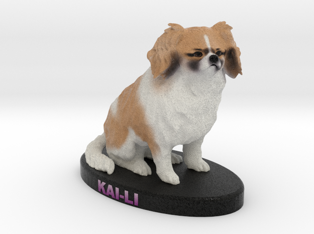 Custom Dog Figurine - KaiLi in Full Color Sandstone