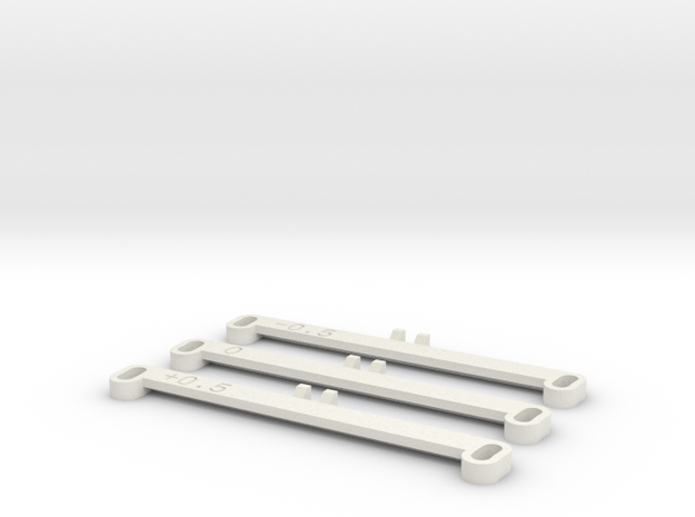 MiniZ F1 Toe Bars in White Strong & Flexible