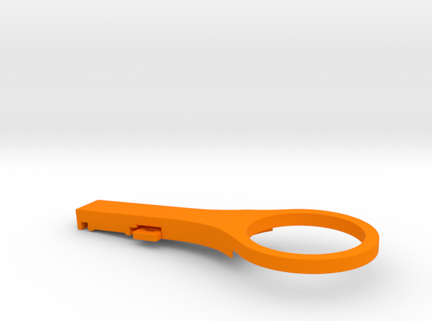 Di2 Junction Mount -5 Deg Thin in Orange Processed Versatile Plastic