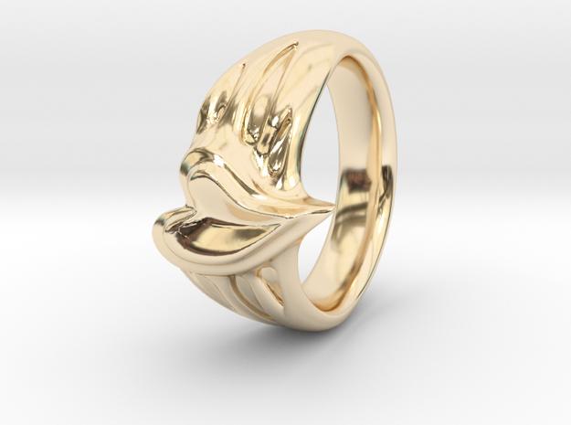 Organic Heart Ring European size16  in 14K Yellow Gold