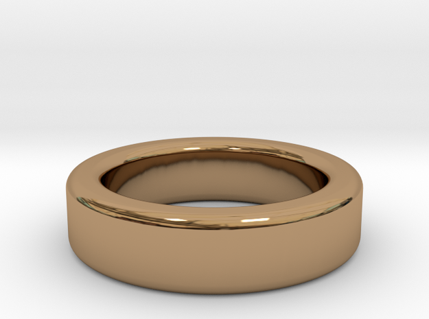 Ring Size 8 (filleted) in Polished Brass