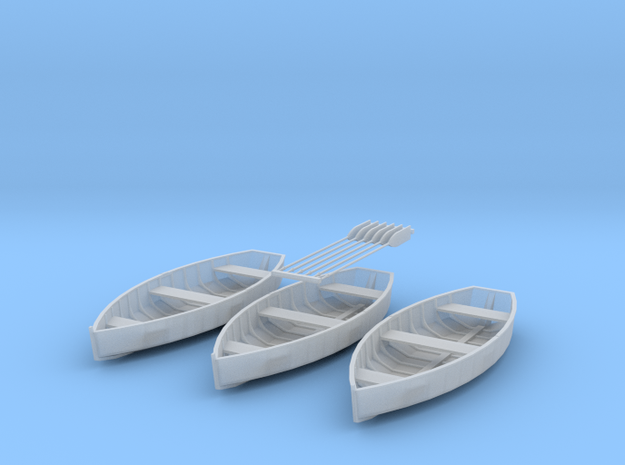 O scale Rowboat Set 3ea 6 Paddles in Smooth Fine Detail Plastic