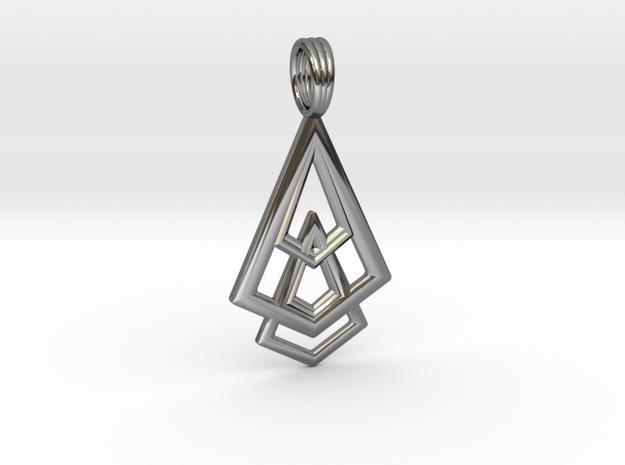 DELTOHEDRON 2D in Premium Silver