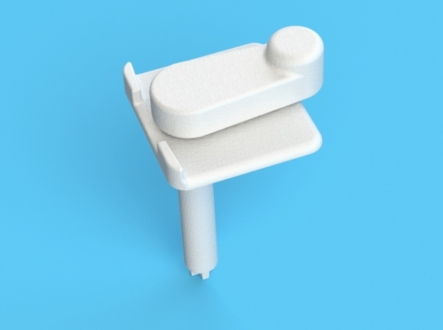 (X1) Pitch Control Lever 3d printed (X1) Pitch Control Lever overview