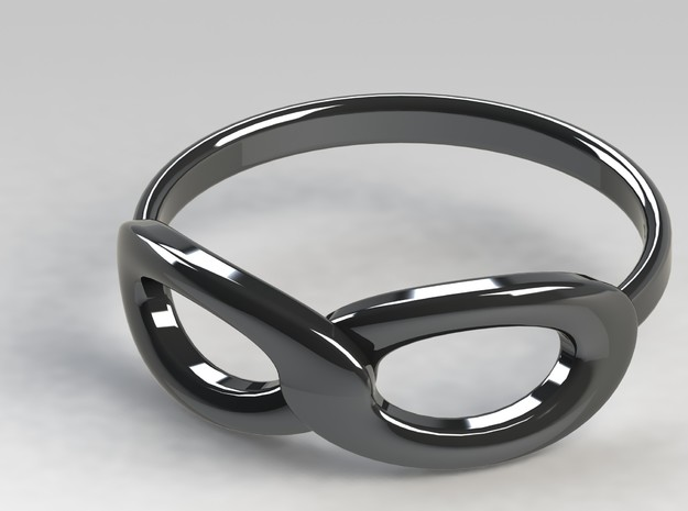 Infinity Ring 3d printed