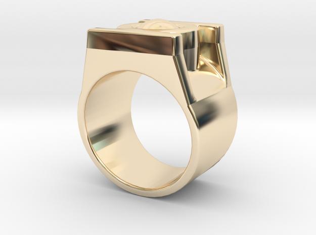 Green Lantern Ring 10 in 14K Yellow Gold