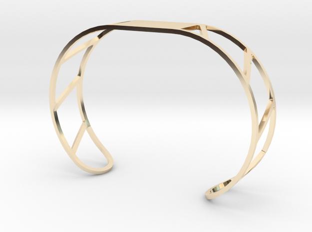 Custom Bracelet 40mm X 30mm in 14K Gold