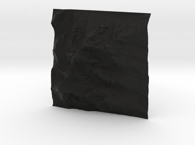 6'' Grand Tetons Terrain Model, Wyoming, USA 3d printed
