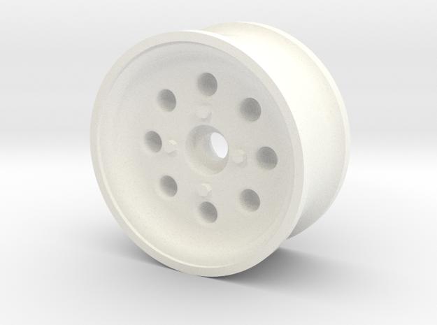 1/10 SCALE 1.9 TRAILER WHEEL W/ 8-HOLES in White Processed Versatile Plastic