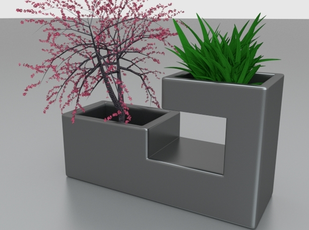 Steel Planter 3d printed render