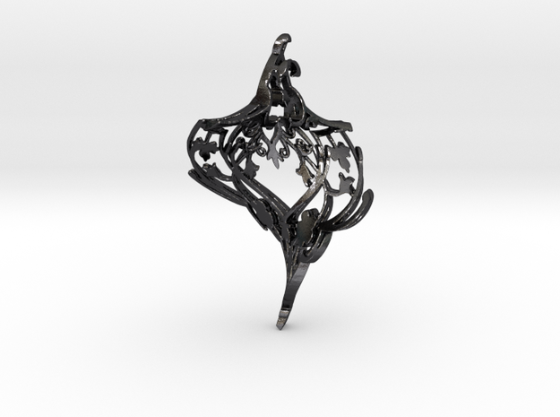 Nor Bird Twist in Polished and Bronzed Black Steel
