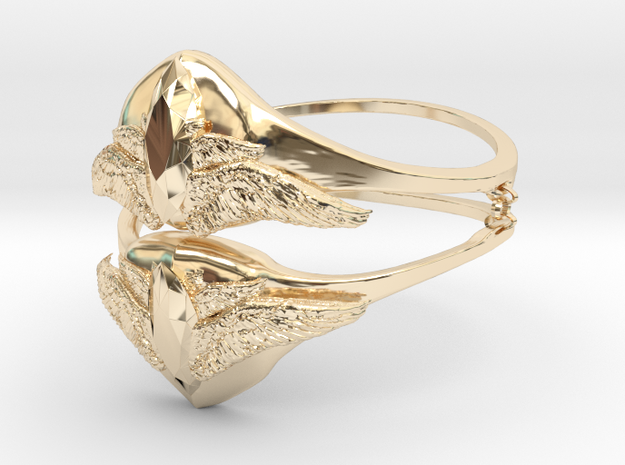 Samons ring (size = USA 5.5)  in 14K Yellow Gold