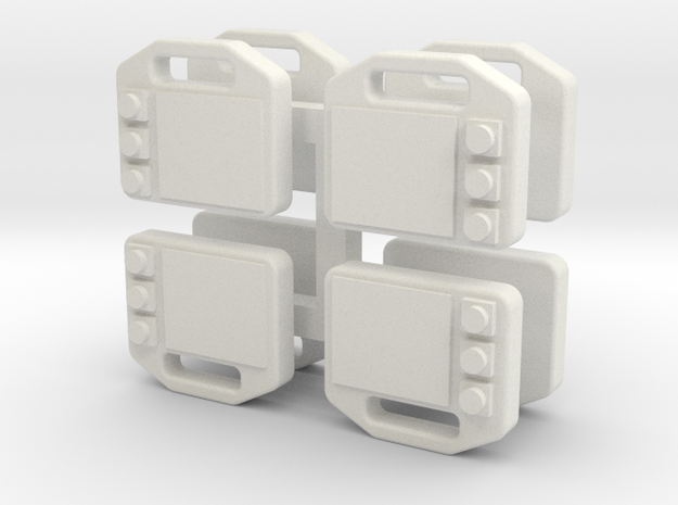 Atemschutzueberwachungstafel in White Natural Versatile Plastic