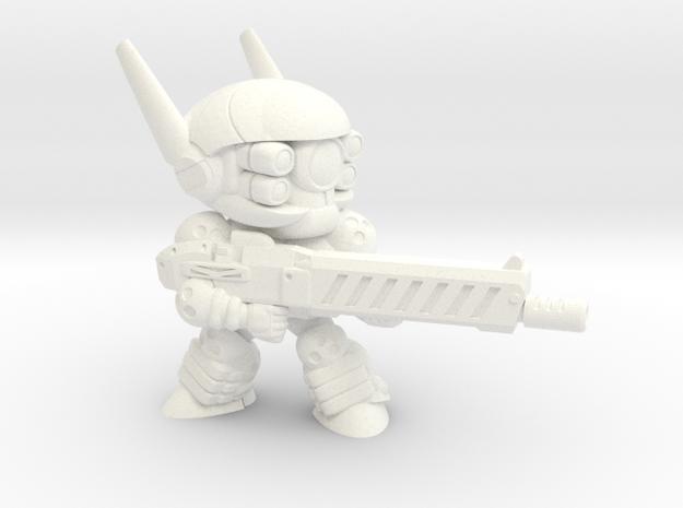E-SWAT UNIT-008 (E) in White Processed Versatile Plastic