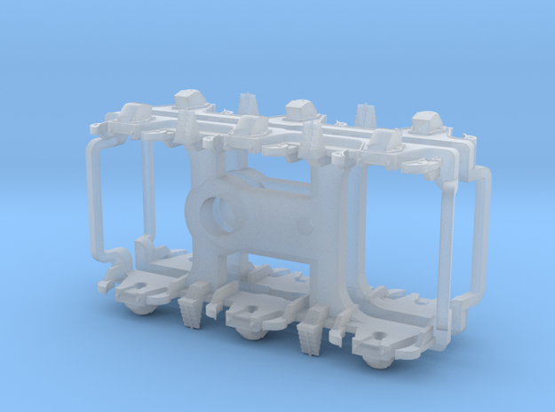 ATSF PASSENGER CAR TRUCKS, straight equalized in Smoothest Fine Detail Plastic