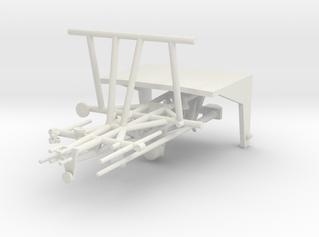 Island Class Mast-and-stern Gate in White Natural Versatile Plastic