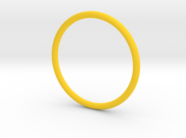 Jewellery - 1mm wire ring band 3d printed