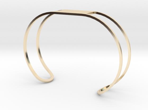 Custom Bracelet 40mm X 30mm Wire in 14K Gold