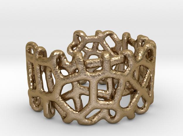 Bracelet Ø78 mm/Ø3.07 inch Voronoi C in Polished Gold Steel
