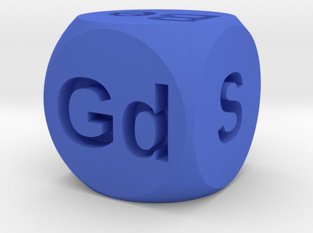 Elemental Doubling Cube in Blue Processed Versatile Plastic