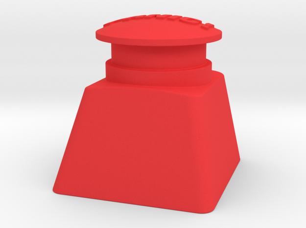 Panic Button Artisan Cherry Keycap in Red Processed Versatile Plastic