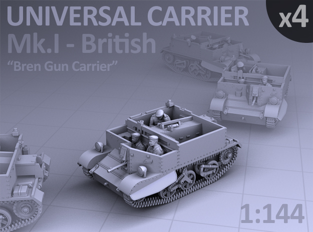 Universal Carrier Mk.I - (4 pack) in Smooth Fine Detail Plastic