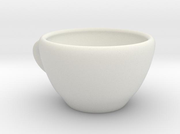 Coffee Mug in White Natural Versatile Plastic