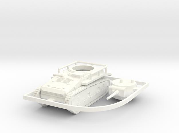 1/100 (15mm) Leichttraktor Rheinmetall in White Strong & Flexible Polished