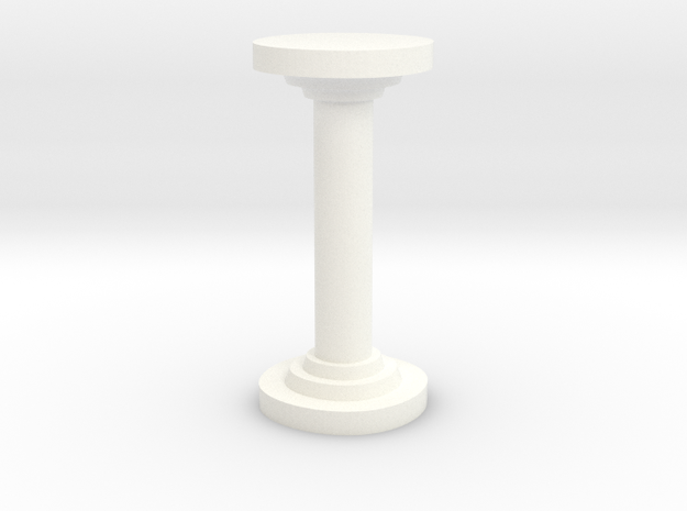 Sharp Round Pillar in White Strong & Flexible Polished