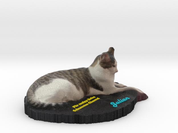 Realistic Cat Coccolino in Full Color Sandstone