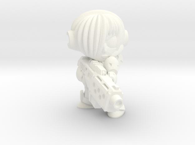 NATALYA CAGE - MGUN - EYES LEFT in White Processed Versatile Plastic