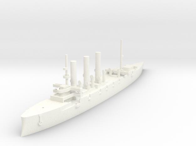 1/1000 Pallada-Class Cruiser (no guns) in White Processed Versatile Plastic