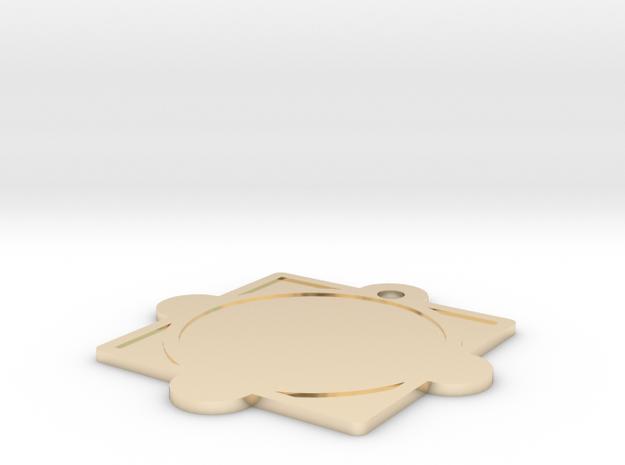 Customizable Mandala Pendant 2 in 14k Gold Plated Brass