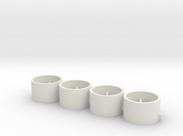10x6x2.2 in White Natural Versatile Plastic