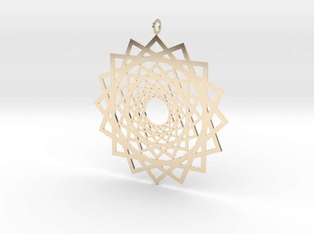 Endless Suns Pendant in 14K Gold