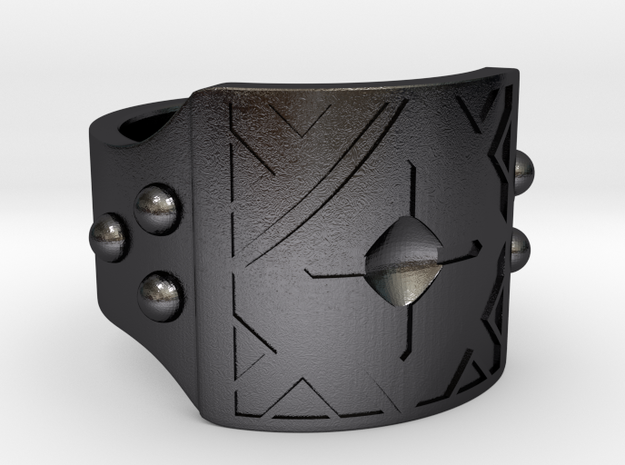 The Flint Square v1 in Polished and Bronzed Black Steel