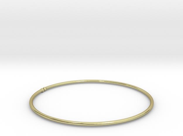 Bracelet Ø53 mm XS/Ø2.086 inch in 18k Gold Plated Brass