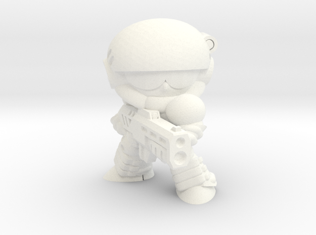 CORPORATION TROOPER (FIRING) in White Processed Versatile Plastic