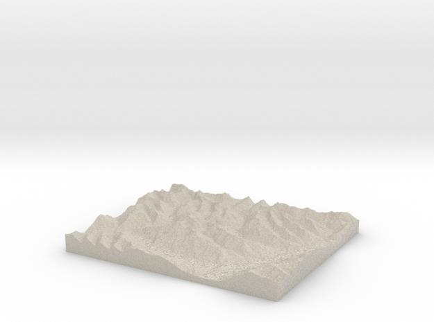 Model of Mount Broome in Sandstone