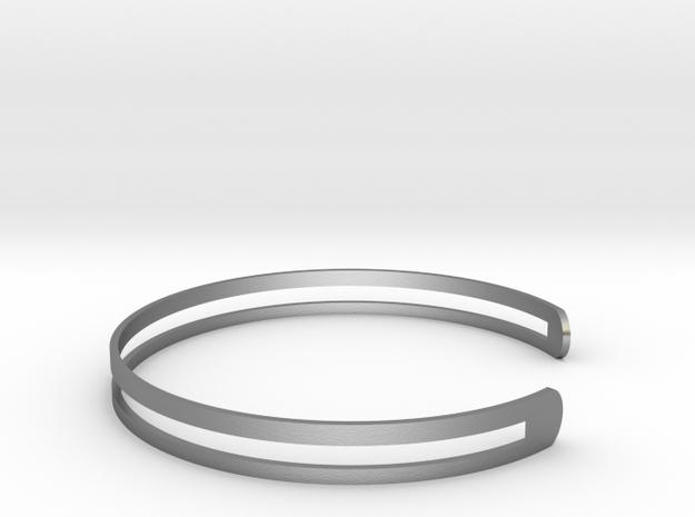 Bracelet Ø 78 Mm XXL/Ø 3.07 inch in Raw Silver
